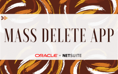 Mass Delete App for NetSuite ERP
