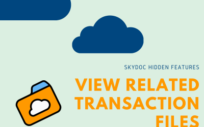SkyDoc Hidden Features: Viewing Related Transaction Files